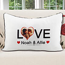 Personalized Pillow Cover White: Send Personalised Gifts to Gandhidham
