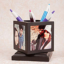 Personalized Rotating Pen Holder: Send Gifts to Mau