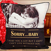Personalized Sorry Cushion: Personalised Gifts Satara