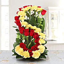 Personalised Floral Arrangement: Send Personalised Gifts to Patna