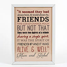 Personalized White Friendship Day Frame: Personalised Photo Frames for Friendship Day