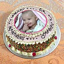 Photo Cake Vanilla Sponge: Send Photo Cakes to Faridabad