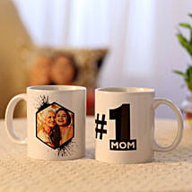 Picture Mug & Number 1 Mom Mug Combo: Mugs for Mother's Day