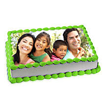 Pineapple Photo Cake: Send Birthday Cakes to Chennai