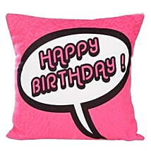 Pink Birthday Cushion: Gifts for Girls