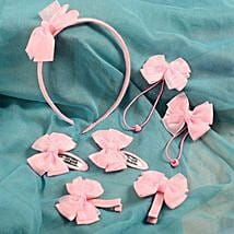 Pink Hair Accessory Set For Kids: Accessories