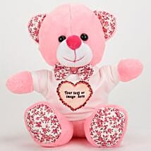 Pink Personalized Teddy Bear: Soft Toys Gifts