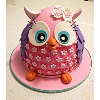 Pinki The Owl Cake: Designer Cakes to Delhi