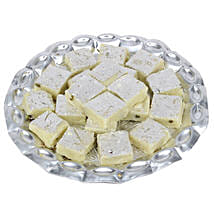 Pista Burfi In Silver Tray: Sweets to Noida