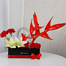Premium Heliconia Box Arrangement: Exotic Flowers