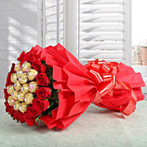Premium Rocher Bouquet: Send Chocolate Bouquet to Kolkata