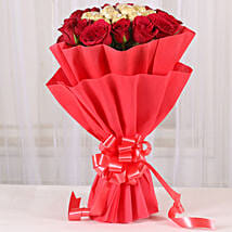 Premium Rocher Bouquet: Send Mothers Day Flowers to Delhi
