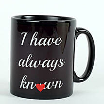 Printed Ceramic Black Mug: Send Valentine Gifts to Amritsar