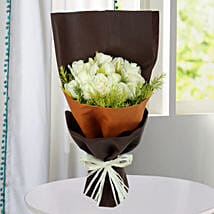 Pure White Roses Bunch: White Roses