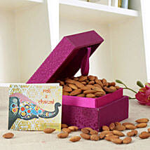 Purple Box Of Almonds: Send Bhai Dooj Gifts to Srinagar