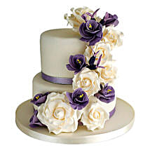 Purple Cascade: Designer Cakes for Wedding