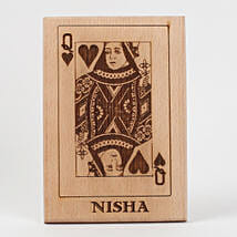 Queen of Hearts Wooden Plaque: Birthday Gifts for Girls