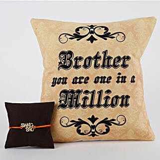 Rakhi Cushion Combo For Swag Bro: Rakhi With Cushions