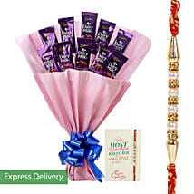 Rakhi Dairy Milk Combo: Rakhi to Hooghly