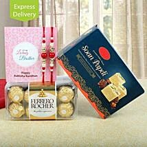 Rakhi Double Treat: Rakhi with Sweets