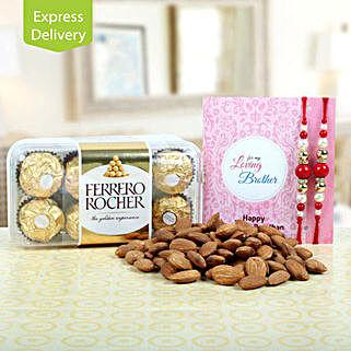 Rakhi Love For 2: Rakhi with Chocolates