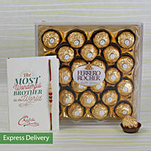 Rakhi Rocher Combo: Send Rakhi to Rohtak