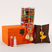 Rakhi Special Box Orange: Send Rakhi to Barnala