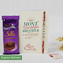 Rakhi With Dairy Milk Silk Chocolate: Send Rakhi to Pune