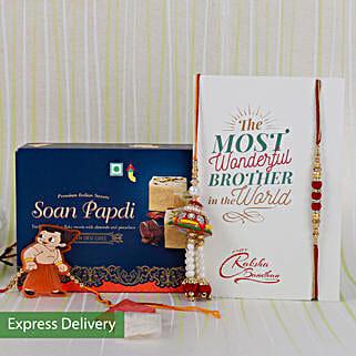 Rakhi With Delicious Sweets: Rakhi Gifts to Kolkata