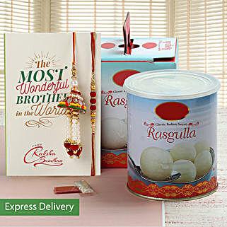 Rasgulla And Lumba Rakhi Set: Raksha Bandhan Sweets