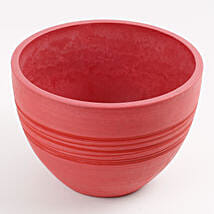 Recycled Plastic Red Vase: Pots and Planters