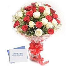 Red N White Roses: Send Flowers & Cards to Bhopal