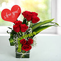 Red Roses Love Arrangement: Birthday Gifts for Boys, Men