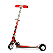 Red Ultra Durable Big Wheel Scooter: