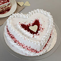 Red Velvet Cream Heart Cake: Red Velvet Cakes Ahmedabad