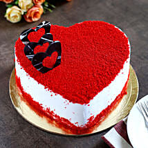 Red Velvet Heart Cake: Cake Delivery in Kanchipuram