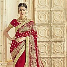 Red Wedding Collection Saree: Karwa Chauth Gifts for Saas