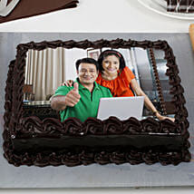 Rich Chocolate Truffle Photo Cake: Photo Cakes to Mumbai