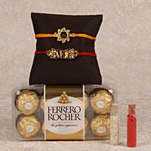 Rocher And 2 Rakhis Combo: Send Rakhi to Kanyakumari