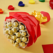 Rocher Choco Bouquet: Karwa Chauth Gifts Lucknow