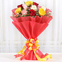 Mixed Roses Romantic Bunch: Send Flowers for Her