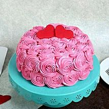 Rose Cream Valentine Cake: Cakes to Kottakal