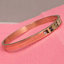 Rose Gold Plated Engraved Bracelet For Women: Jewellery Gifts