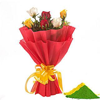 Rose Gulal Combo: Holi Flowers