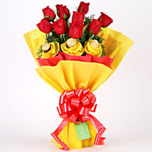 Roses N Chocolates Delight: Christmas Flowers & Chocolates