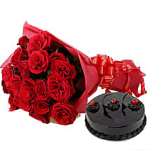 Roses N Chocolaty Love: Send Flower Bouquets to Gurgaon