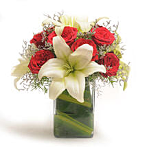 Roses N Lilies: Romantic Flowers for Husband