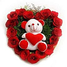 Roses N Soft toy: Flower N Teddy