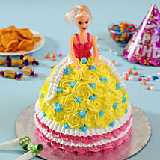 Rosy Barbie Cake: Designer Cakes to Ghaziabad