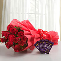 Rosy N Sweet: Flowers N Chocolates - birthday